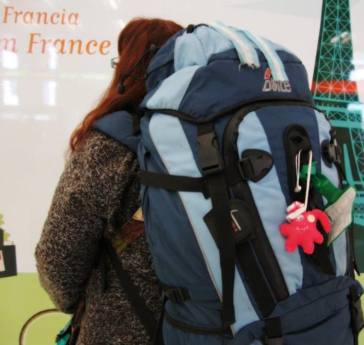 """Viajeros inseparables, su mochila y """"argento"""""""