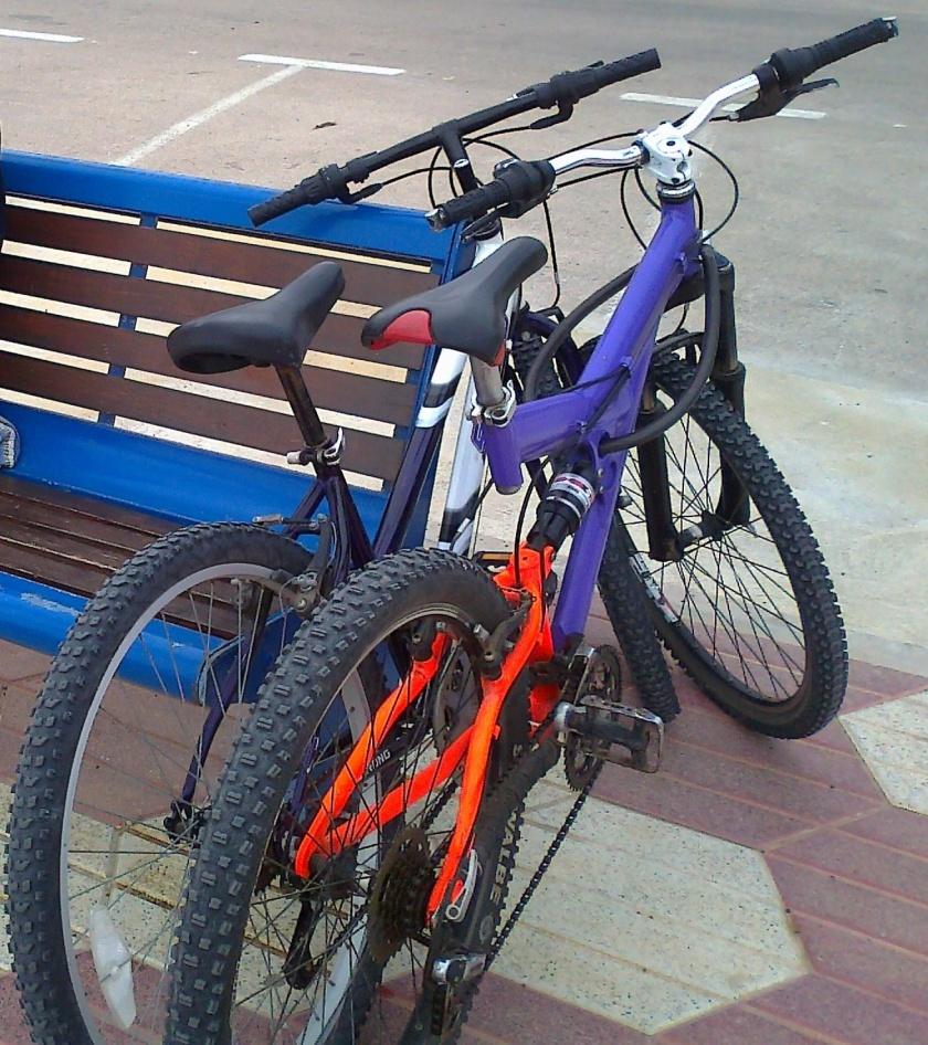 Una bici convencional