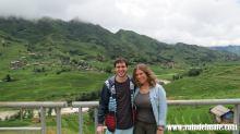 Entre arrozales en Viet Nam