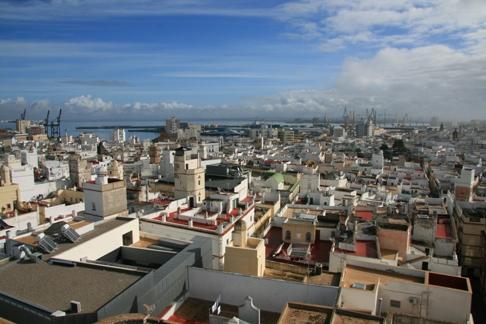 Vista de Cádiz desde la Torre Tavira