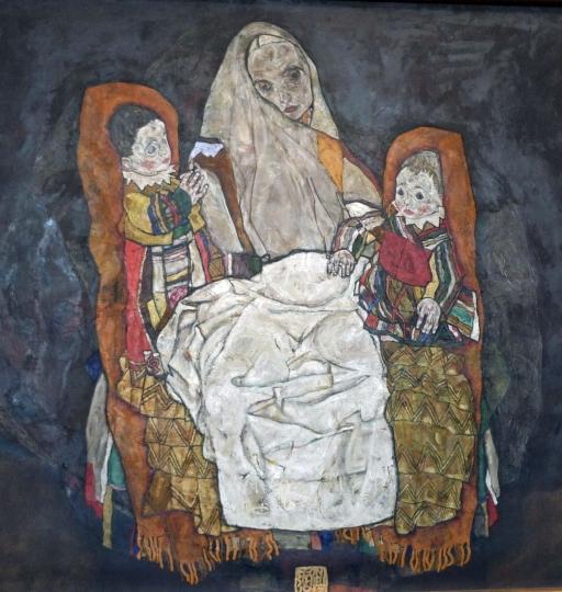 Madre con dos hijos, 1915-1917