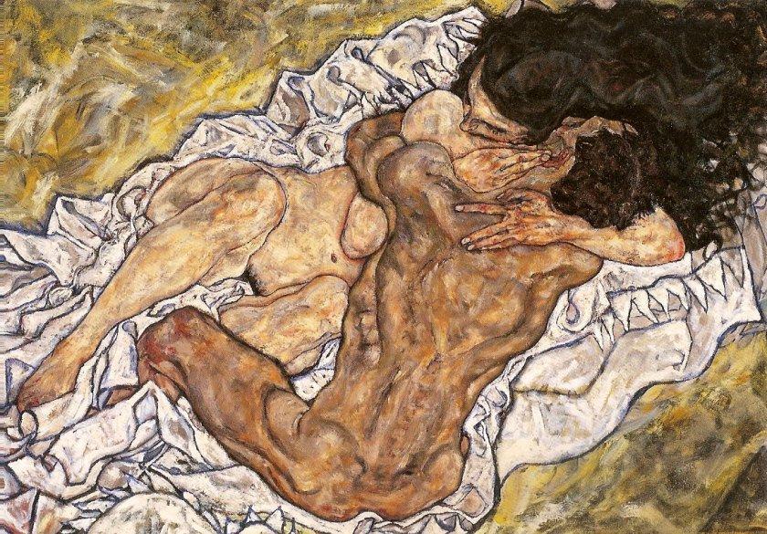 El abrazo, 1917