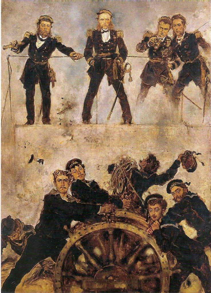 AlmiranteTegethoff en la Batalla de Lissa, 1878-1880