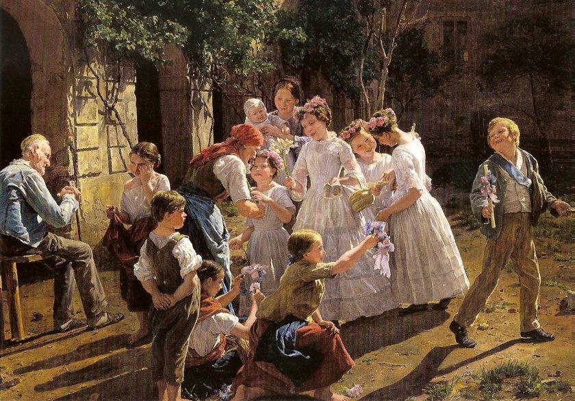 El día del Corpus Christi, 1857