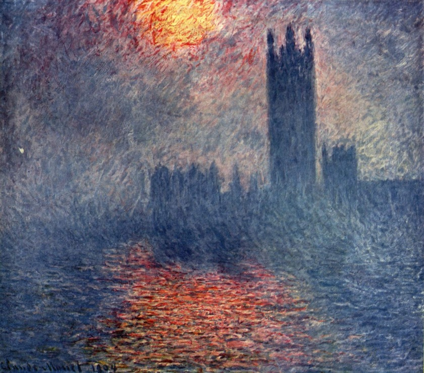 Londres, le Parlement - Monet