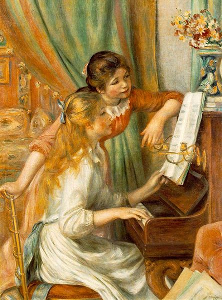 cuadros museo orsay Jeunes filles au piano