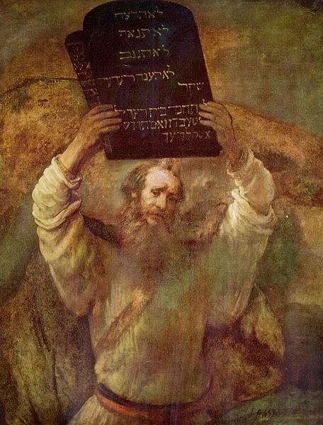 Moisés rompiendo las tablas de la ley - Rembrandt