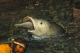 Pez grande pez chico Bruegel Gemaldegalerie