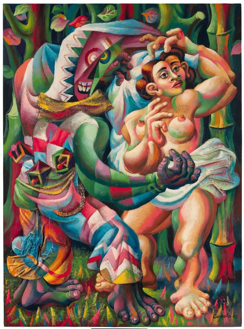 pintores cubanos Danza_afrocubana_Mario_Carreño