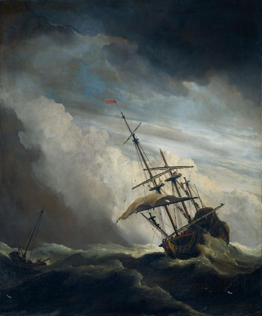 """Un barco en el mar con Squall, conocido como """"El gust '"""