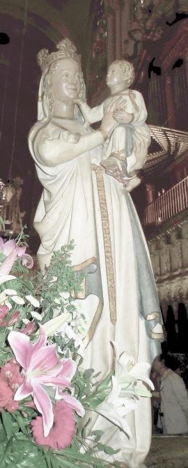 Virgen Blanca,en el coro