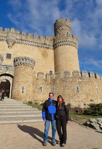 A la salida del castillo