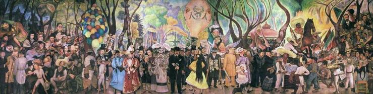 Fragmento del mural de Diego Rivera, en el centro Catrina