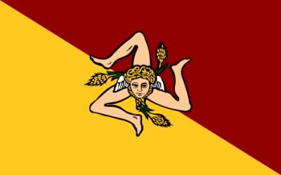 bandera sicilia trinacria