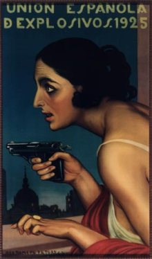 Cartel Mujer_de_la_pistola_JulioRomerodeTorres