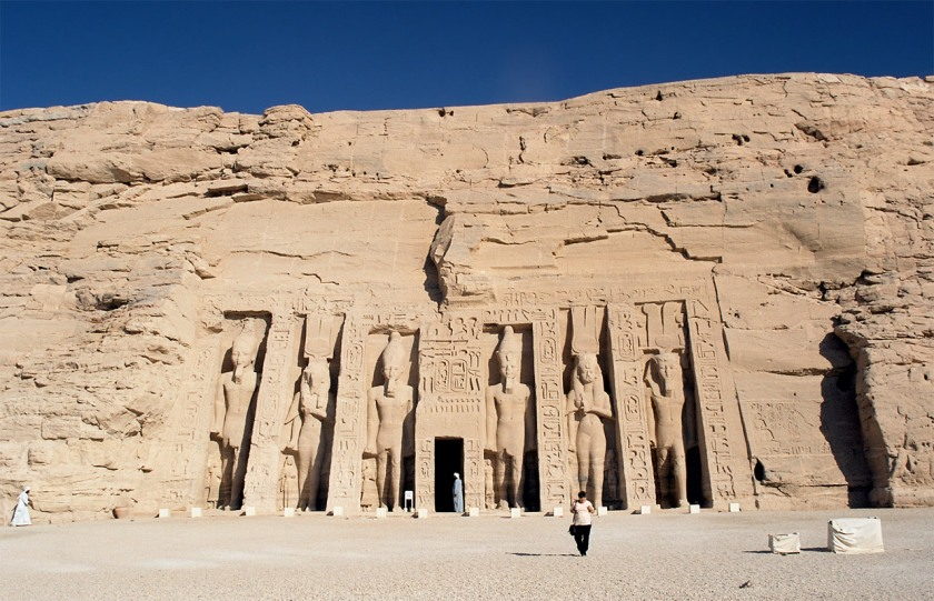 Templo menor, de Nefertari en Abu Simbel.