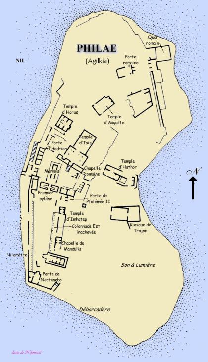 Mapa de la Isla Philae