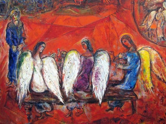 Chagall_Abraham y los tres ángeles