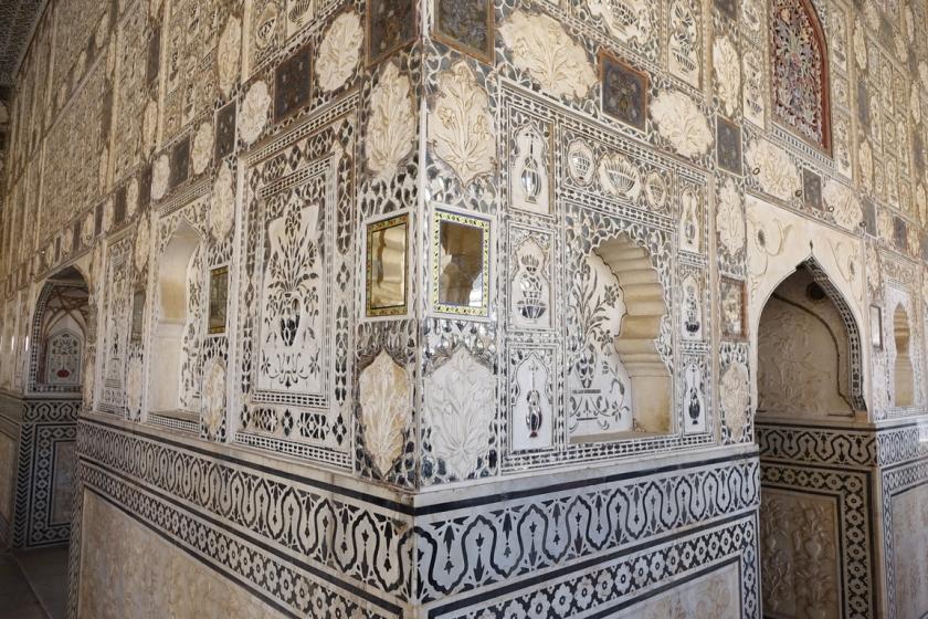 Sala espejos, fuerte Amber en Jaipur
