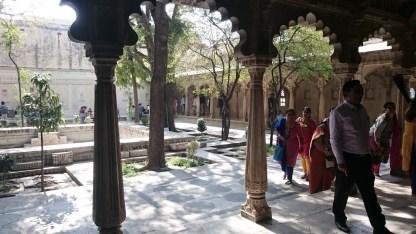 Pario central interior, Palacio Udaipur