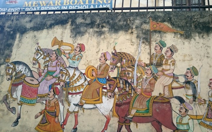 Marajá y su séquito, en Udaiur