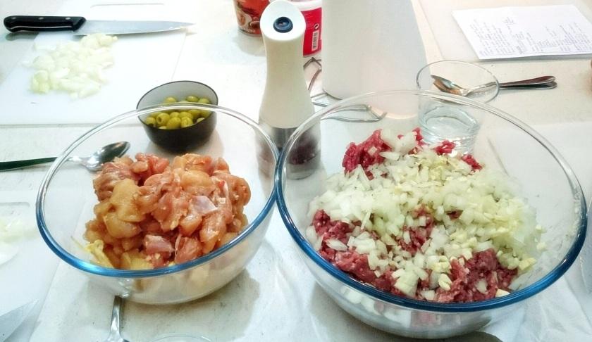 picada carne + pollo