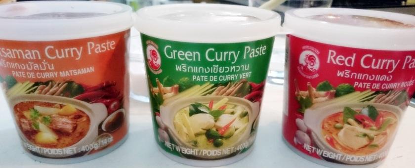 tipos de pastas de curry