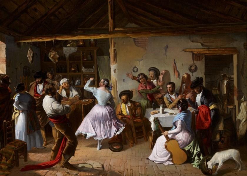Baile en una venta - Museo Carmen Thyssen