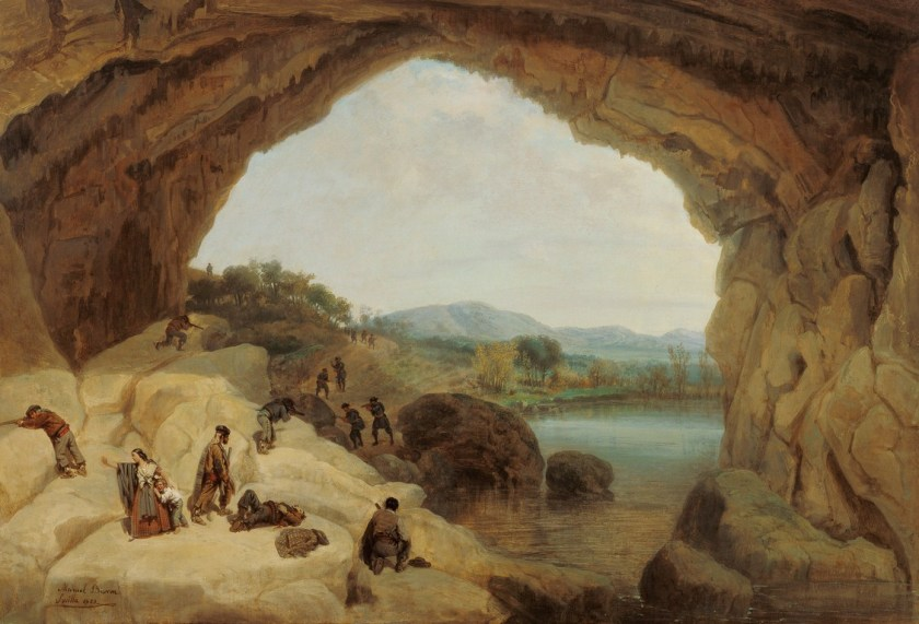 Emboscada bandoleros en la cueva del Gato - Museo Carmen Thyssen