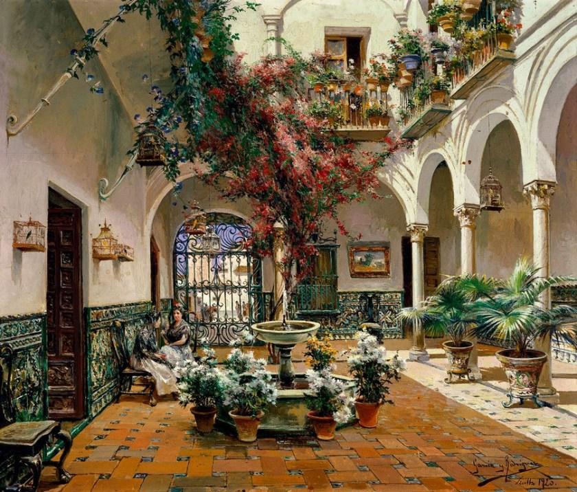 Patio interior Sevilla - Museo Carmen Thyssen