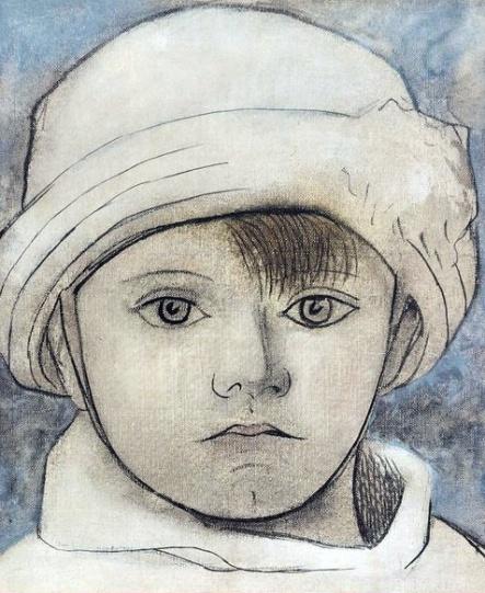 Retrato de Pablo con gorro blanco Picasso