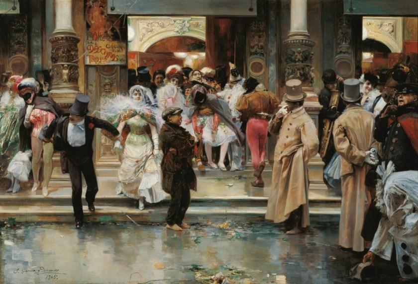 Salida de un baile de máscaras - Museo Carmen Thyssen