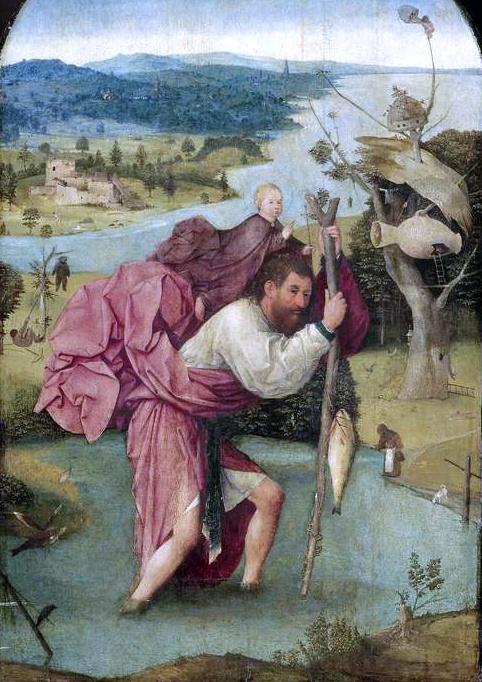 san cristobal con niño a cuestas bosco