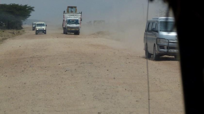 Tráfico camino a Masai Mara