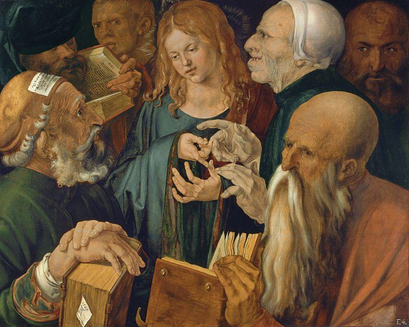 durero_jesus-entre-los-doctores_museothyssen