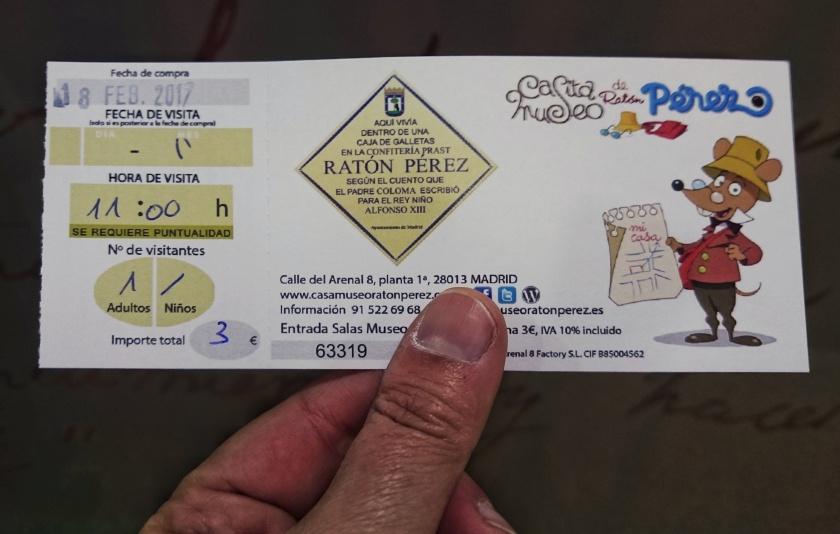 Ticket Museo Casa Ratón Pérez