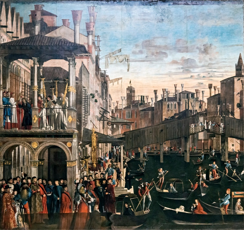 Accademia - Miracle of the Holy Cross at Rialto by Vittore Carpaccio