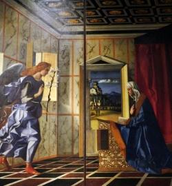 Angel anunciando la Anunciació, Bellini