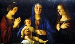 Madonna con bambino junto con XXx y YYY, Bellini