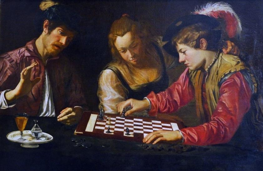 museo academia_caravaggesco_jugadores de ajedrez