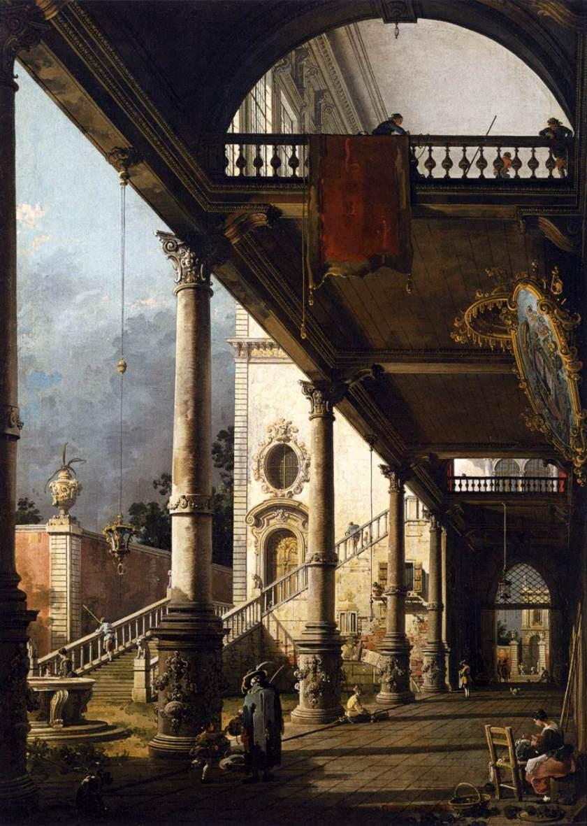 Vista perepctiva con portico_Canaletto