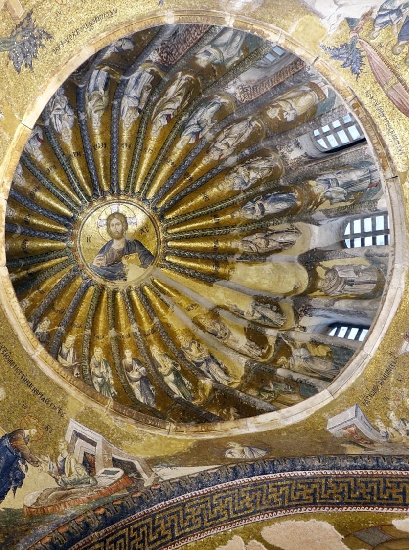 Mosaico del Cristo Pantocrátor y sus antepasados