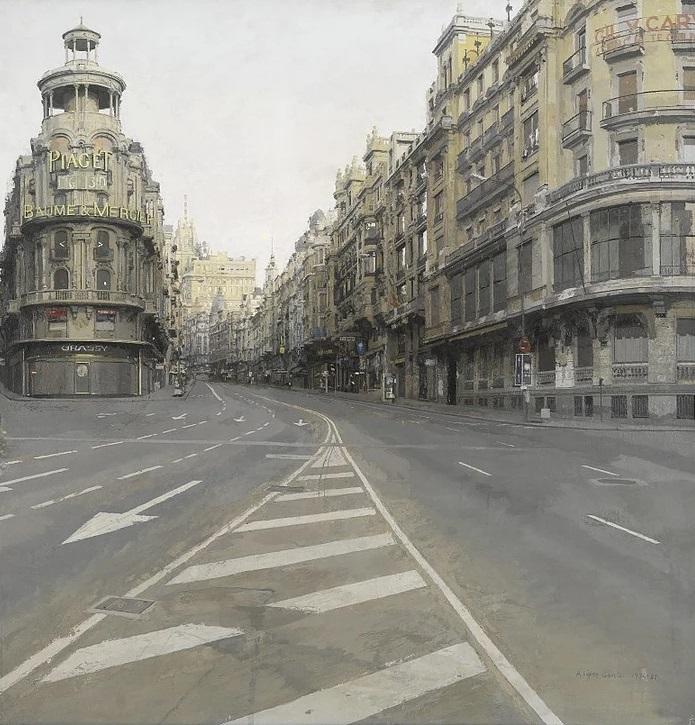 Gran Via 1974-1981, Antonio Lopez. Fuente imagen: Web Antonio López