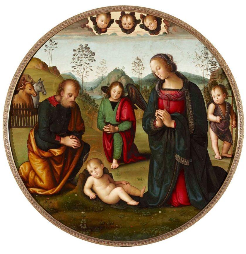 La Natividad, de Perugini, fuente imagen: Palacio de Liria