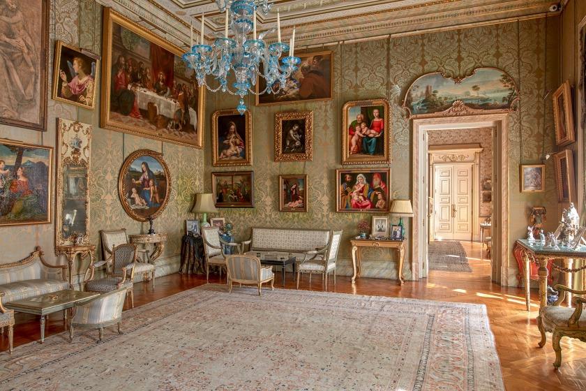 Sala italiana, fuente imagen: Palacio de Liria