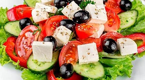 Ensalada griega. Fuente imagen, Internet