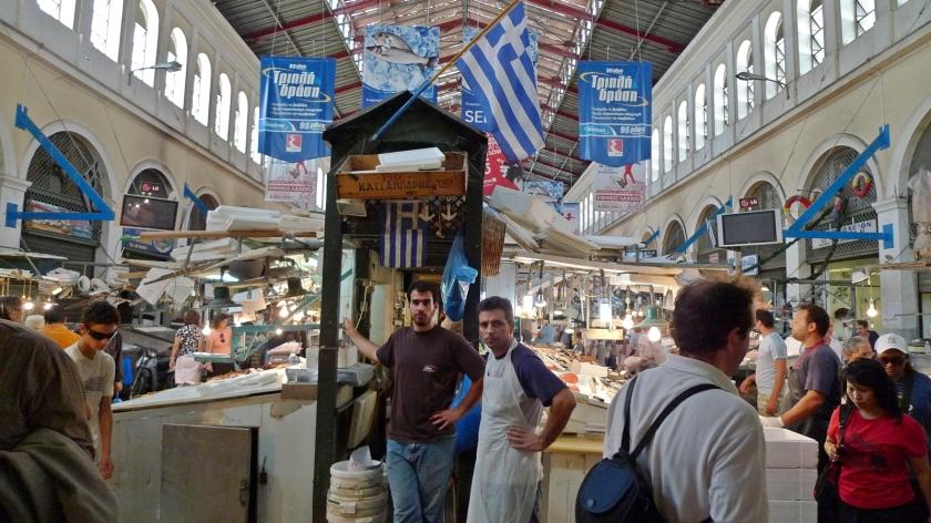 Mercado en Atenas