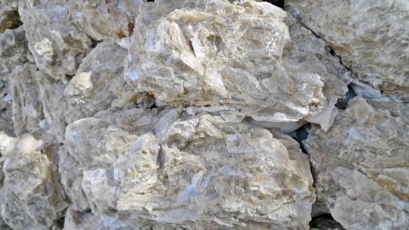 Detalle de la roca de yeso ...