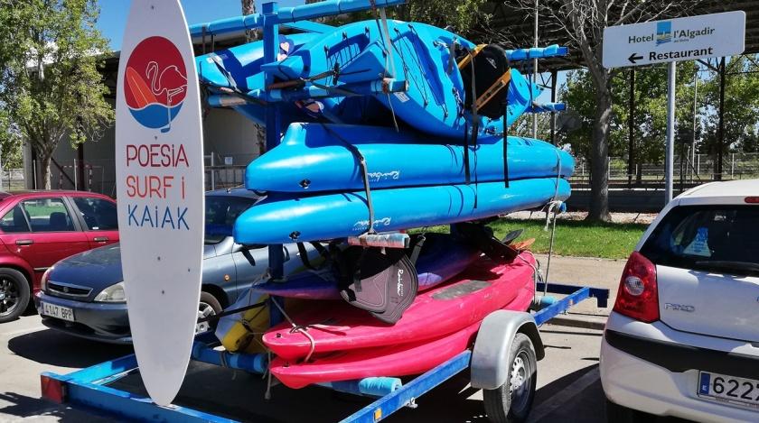Kayak en Poblenou